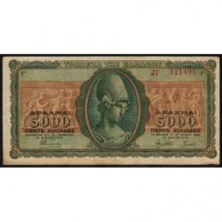 Grèce - Pick 122a_1 - 5'000 drachmai - 19/07/1943 - Etat : TTB