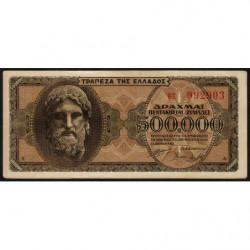 Grèce - Pick 126a_2 - 500'000 drachmai - 20/03/1944 - Etat : TTB+