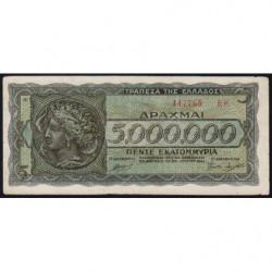Grèce - Pick 128b_1 - 5'000'000 drachmai - 20/07/1944 - Etat : TTB