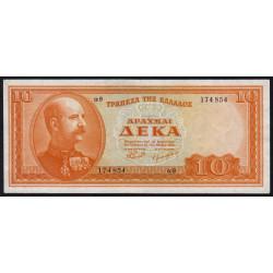 Grèce - Pick 189a - 10 drachmai - 15/05/1954 - Etat : TTB+