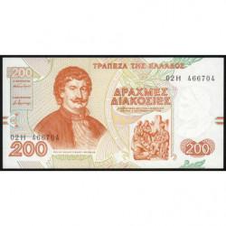 Grèce - Pick 204 - 200 drachmai - 02/09/1996 - Etat : NEUF