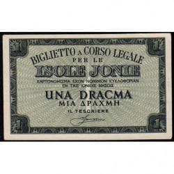 Grèce - Occupation Italienne - Pick M11 - 1 drachma - 1941 - Etat : NEUF