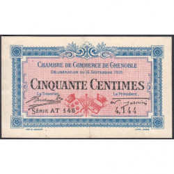 Grenoble - Pirot 63-4 - 50 centimes - Série AT 145 - 14/09/1916 - Etat : TTB+
