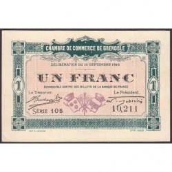 Grenoble - Pirot 63-6 - 1 franc - Série 105 - 14/09/1916 - Etat : SPL