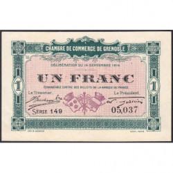 Grenoble - Pirot 63-6 - 1 franc - Série 149 - 14/09/1916 - Etat : SPL