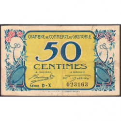 Grenoble - Pirot 63-13 - Série DX - 50 centimes - 1917 - Etat : TB+