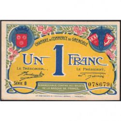 Grenoble - Pirot 63-25 - 1 franc - Série 8 - 08/11/1917 - Etat : pr.NEUF