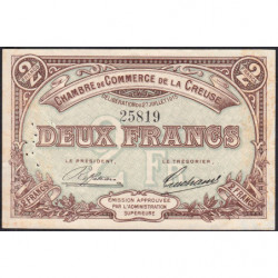 Gueret (Creuse) - Pirot 64-5 - 2 francs - 1915 - Etat : TTB
