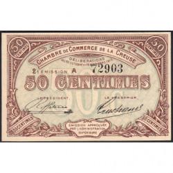 Gueret (Creuse) - Pirot 64-7 - 50 centimes - Série A - 2e émission - 26/10/1915 - Etat : NEUF
