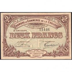 Gueret (Creuse) - Pirot 64-11 - 2 francs - Sans série - 2e émission - 26/10/1915 - Etat : TTB
