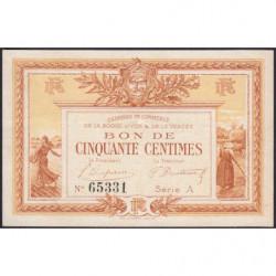 La Roche-sur-Yon (Vendée) - Pirot 65-1 - 50 centimes - Série A - 1915 - Etat : TTB+