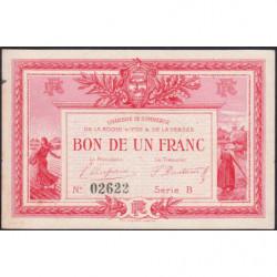 La Roche-sur-Yon (Vendée) - Pirot 65-5 - 1 franc - Série B - 1915 - Etat : SUP