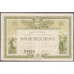 La Roche-sur-Yon (Vendée) - Pirot 65-10 - 2 francs - Série A - 1915 - Etat : TTB
