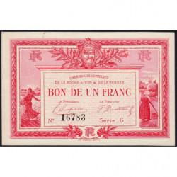 La Roche-sur-Yon (Vendée) - Pirot 65-17 - 1 franc - Série G - 1915 - Etat : SUP