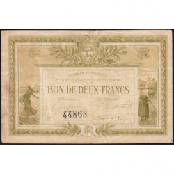 La Roche-sur-Yon (Vendée) - Pirot 65-21-E - 2 francs - 1915 - Etat : TB-