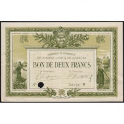 La Roche-sur-Yon (Vendée) - Pirot 65-22 - 2 francs - Série B - 1915 - Spécimen - Etat : SUP