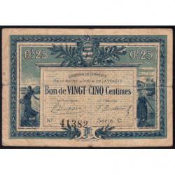 La Roche-sur-Yon (Vendée) - Pirot 65-26-C - 25 centimes - 1916 - Etat : B+
