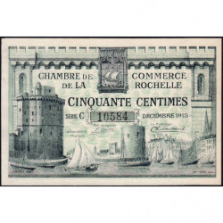 La Rochelle - Pirot 66-1 variété - 50 centimes - Série C - 10/1915 - Etat : SUP+