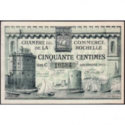 La Rochelle - Pirot 66-1b - Série C - 50 centimes - 1915 - Etat : SUP+