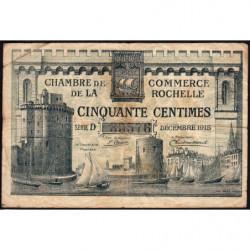 La Rochelle - Pirot 66-1 - 50 centimes - Série D - 10/1915 - Etat : B+