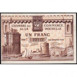 La Rochelle - Pirot 66-3 variété - 1 franc - Série C - 10/1915 - Etat : SUP+
