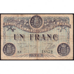 Laval (Mayenne) - Pirot 67-5 - 1 franc - Série B - 1920 - Etat : B+