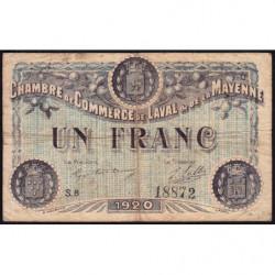 Laval (Mayenne) - Pirot 67-5-E - 1 franc - 1920 - Etat : B+