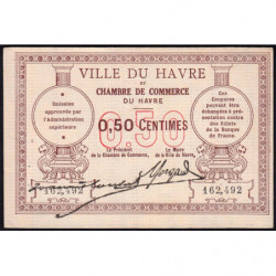 Le Havre - Pirot 68-1 - 50 centimes - Sans date - Etat : SUP