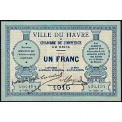 Le Havre - Pirot 68-10 - 1 franc - 1915 - Etat : SUP