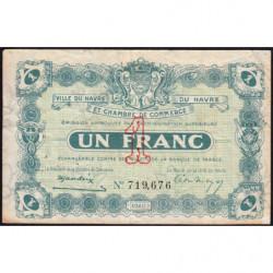 Le Havre - Pirot 68-22 - 1 franc - 15/01/1920 - Etat : TB-
