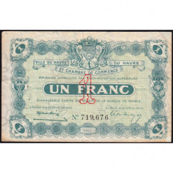 Le Havre - Pirot 68-22 - 1 franc - 1920 - Etat : TB-