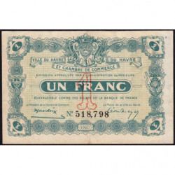 Le Havre - Pirot 68-28 - 1 franc - 18/08/1920 - Etat : TTB