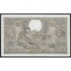 Belgique - Pick 107_3 - 100 francs ou 20 belgas - 04/05/1938 - Etat : SUP+