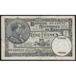 Belgique - Pick 97b - 5 francs - 13/04/1931 - Etat : TB+