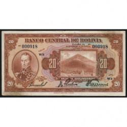 Bolivie - Pick 122_9 - 20 bolivianos - Loi 1928 - Etat : TTB-