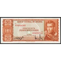 Bolivie - Pick 162a14 - 50 pesos bolivianos - Loi 1962 - Etat : NEUF