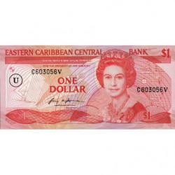 Caraïbes Est - Anguilla - Pick 17u - 1 dollar - 1988 - Etat : SUP+