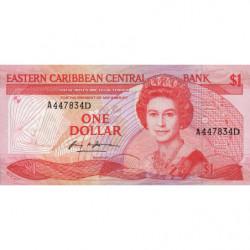 Caraïbes Est - Dominique - Pick 17d - 1 dollar - 1986 - Etat : NEUF