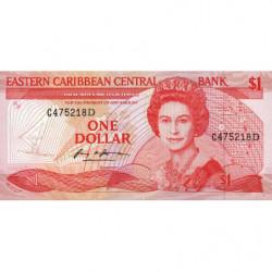 Est Caraïbes - Dominique - Pick 21d - 1 dollar - 1988 - Etat : NEUF