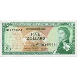 Etats de l'Est des Caraïbes - Pick 14h2 - 5 dollars - 1974 - Etat : NEUF
