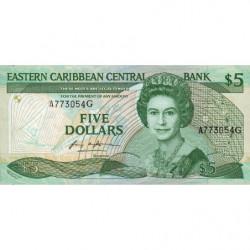 Est Caraïbes - Grenade - Pick 18g - 5 dollars - 1987 - Etat : SUP