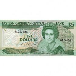 Caraïbes Est - Sainte Lucie - Pick 18l - 5 dollars - 1987 - Etat : NEUF