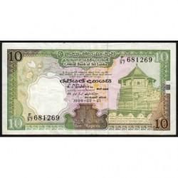 Sri-Lanka - Pick 96c - 10 rupees - 21/02/1989 - Etat : TB+