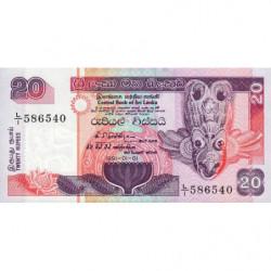Sri-Lanka - Pick 103a_2 - 20 rupees - 01/01/1991 - Etat : NEUF
