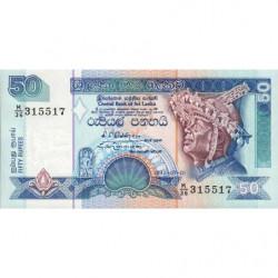 Sri-Lanka - Pick 104b - 50 rupees - 01/01/1992 - Etat : NEUF