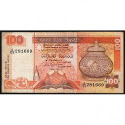 Sri-Lanka - Pick 105A - 100 rupees - 01/01/1992 - Etat : TB