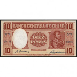 Chili - Pick 111_2 - 10 pesos - 1947 - Etat : SPL
