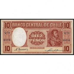 Chili - Pick 111_2 - 10 pesos - 1947 - Etat : SPL