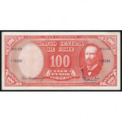 Chili - Pick 127a2 - 100 pesos - 1962 - Etat : SUP