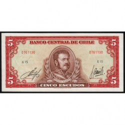 Chili - Pick 138_6 - 5 escudos - 1964 - Etat : SPL